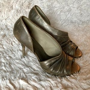Shoes - Aldo Heels Metallic D'Orsay Style